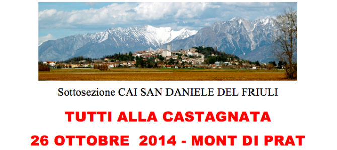 Castagnata 2014 Monte Prat